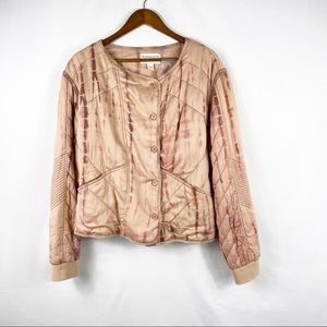 ANTHROPOLOGIE Marrakech Dyed Quilted Jacket NWT L